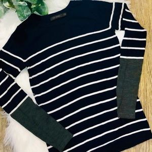 The Limited Navy Sweater w/ White Stripes in sz S